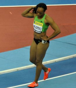 Gloria Asumnu at the Aviva Grand Prix in Birmingham / Photo: Yomi Omogbeja