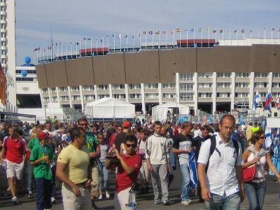 Helsinki Olympic Stadium during 2005 World Championships in Athletics, August 2005/ Photo: Wikimedia User: Tomisti