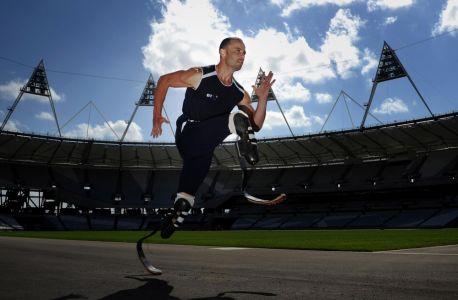 Oscar Pistorius at the London 2012 Olympic Stadium/ Photo: LOCOG