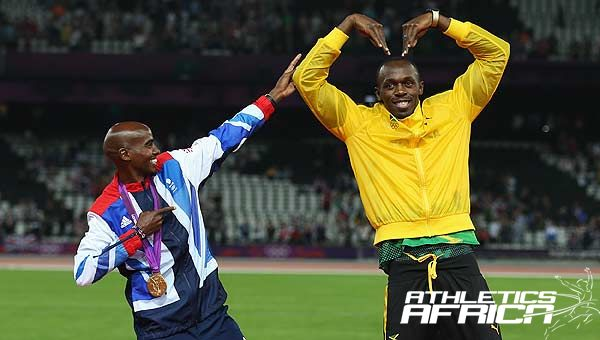 Mo FARAH & Usain Bolt / Photo: LOCOG