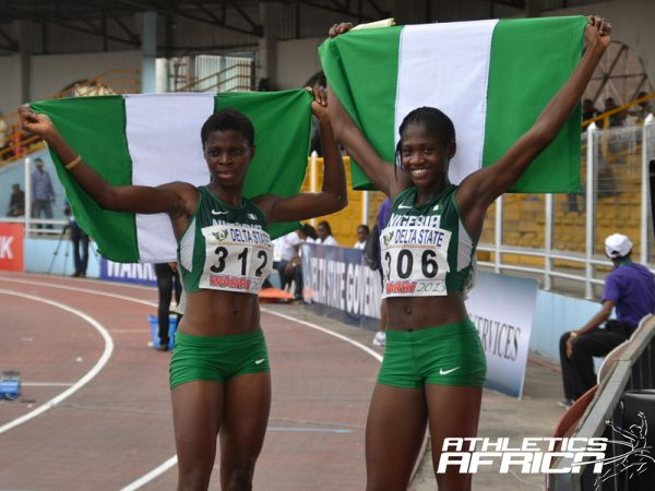 400m Girls Final - Odiong Edidiong Ofonime (312) won Gold & Abimbola Junaid (306) won Silver / Photo credit: Segun Ogunfeyintimi