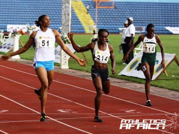 The Women's 400m final at Calabar 2012/ Photo: Mark Ouma