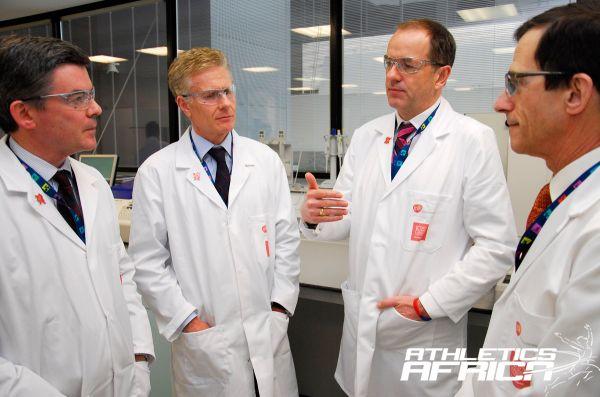 L-R Hugh Robertson,Paul Deighton (LOCOG),Andrew Witty (GSK),Prof. David Cowan