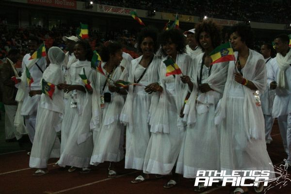 Ethiopian athletes at the All Africa Games in Maputo 2010