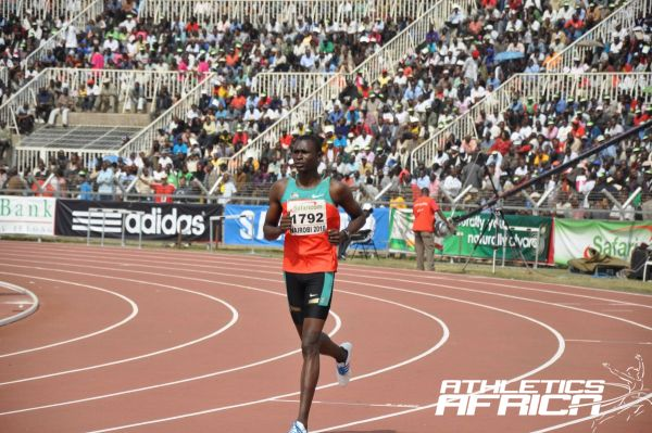 David Rudisha at the Nairobi AAC 2010/Photo credit: Yomi Omogbeja