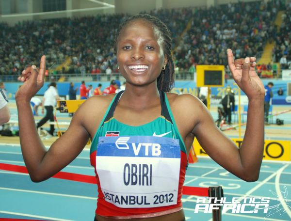 Hellen Onsando Obiri poses after winning in Istanbul 2012/ Photo: PACE Sports Management