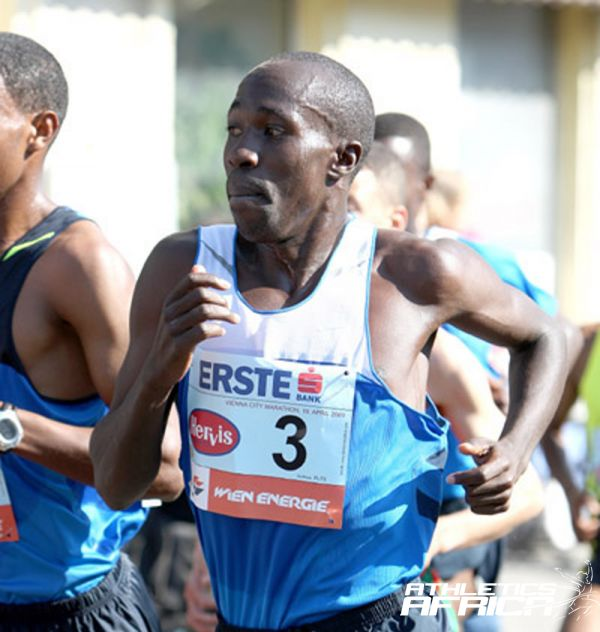 Reuben Kosgei in Vienna 2009 / Photo Credit: PhotoRun.Net