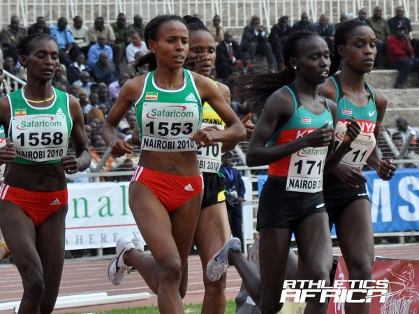 Meseret Defar and Vivian Cheruiyot at the AAC Nairobi 2010 / Photo: Yomi Omogbeja