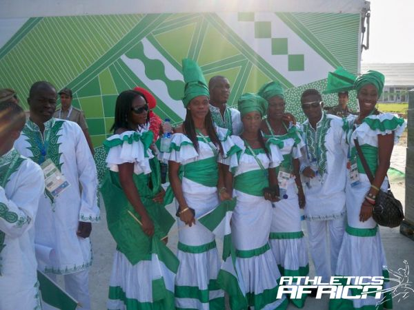 Nigerian Athletes at the Delhi 2010 Commonwealth Games