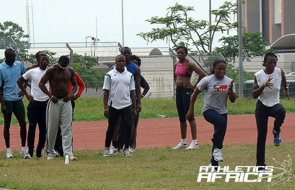 Nigeria Athletes in training for the last Olympics / Photo credit: Yomi Omogbeja