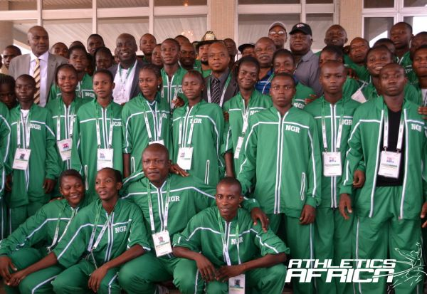 The Nigerian U-18 team to AYAC 2013 / Photo Credit: Segun Ogunfeyitimi