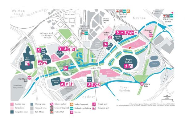 London 2012 Olympic Park Map / Photo Credit: Credit - LOCOG