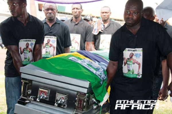 Lying in State of late Sunday Bada at the National Stadium Lagos/ PM News