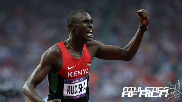 David Rudisha celebrates after his World Record Run in London / Photo: LOCOG