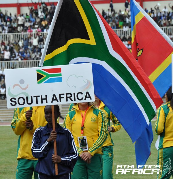 South African team march at Nairobi 2010 AAC / Photo: Yomi Omogbeja