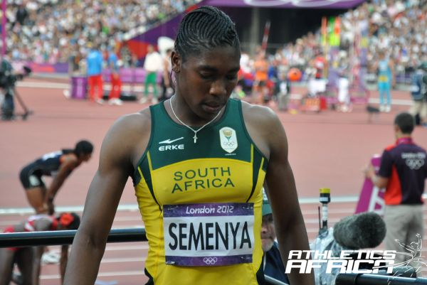 Caster Semenya after the 800m final / Photo: Yomi Omogbeja at the Olympic Stadium in London