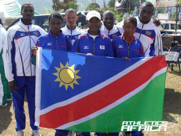 Namibian team at the 2011 (CAA SR) Half Marathon/Photo: Namibia Sport