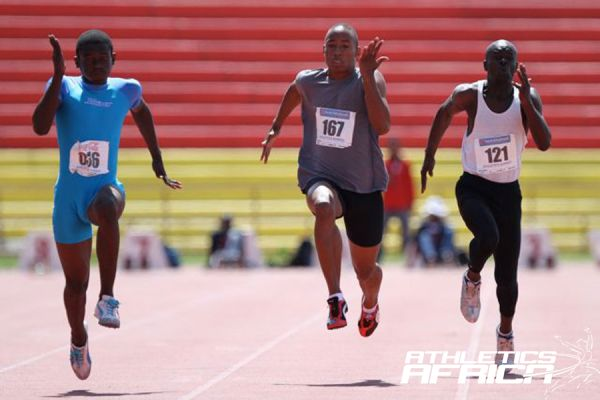 Reigning sprint champion, Jesse Urikhob in action / Photo Credit: Namibia Sport
