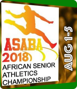 Asaba 2018 African Senior Athletics Championships, Stephen Keshi Stadium Asaba, Nigeria | 1-5 August,2018