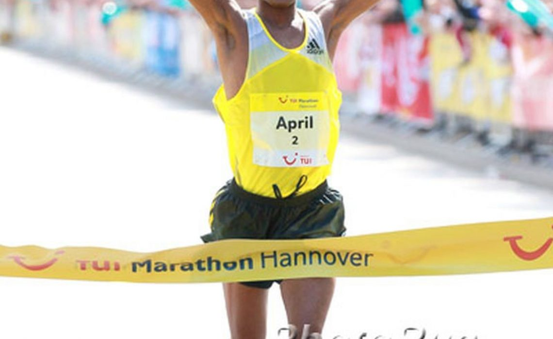 South Africa's Lusapho April clocked 2:08:32 / Photo Credit: Photorun.net