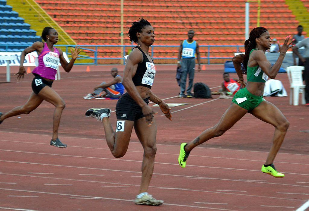 Nigeria 400m women runners