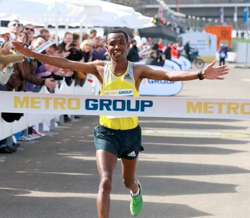 Tulu Dereje at the 2013 Metro Group Dusseldorf Marathon Dusseldorf, Germany