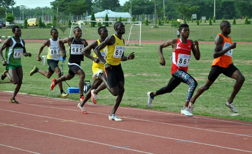 Nigerian athletes in action
