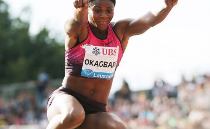 Nigeria's Blessing Okagbare in action