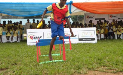 Flag off of the IAAF/Nestle Healthy Kids Athletics in Lagos on 25/07 2013. Photo Sunday Eshiet