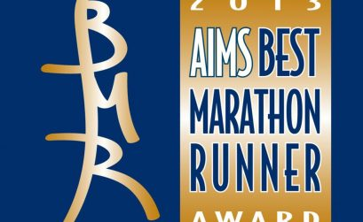 Logo of the AIMS Best Marathon Runner of the Year Award