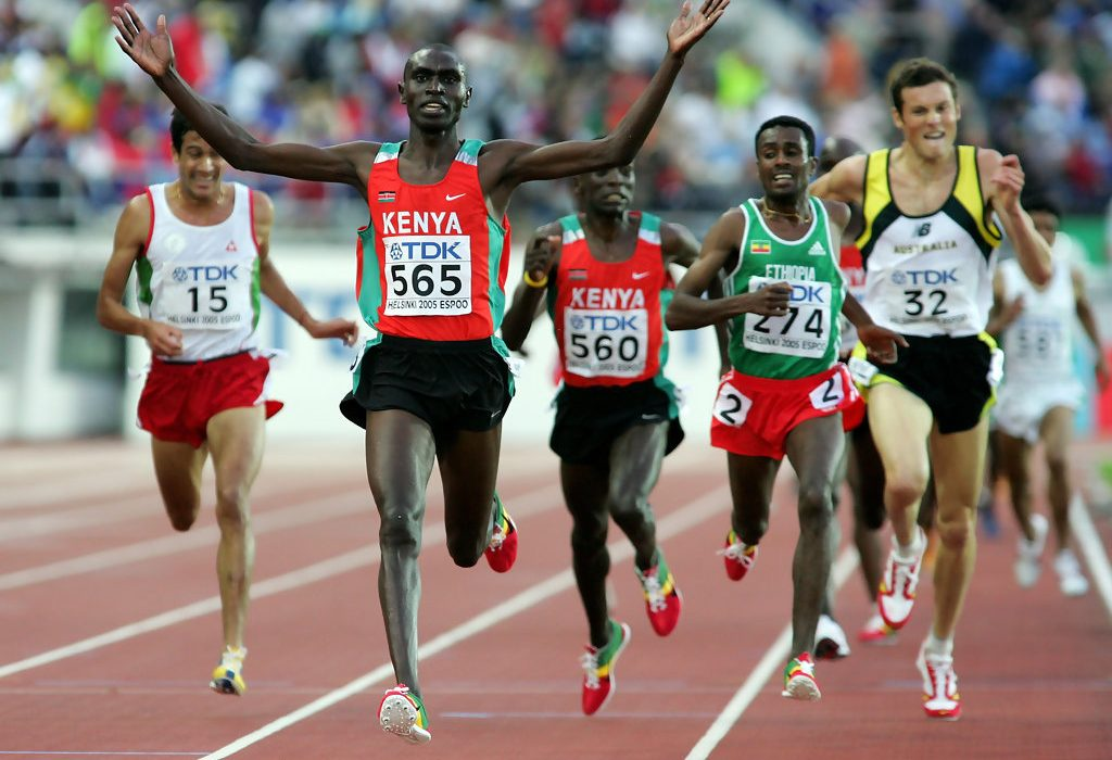 Benjamin Limo winning the 10th IAAF World Championships in Athletics in Helsinki 2005 / Photo credit: IAAF
