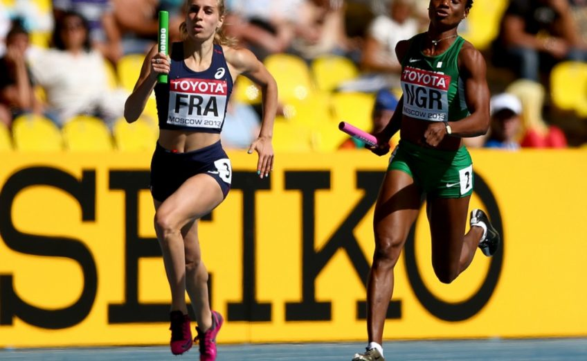 4X400m women relays during the 14th IAAF World Athletics Championships Moscow 2013