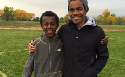 Abreham Anderson meeting for the first time (October 12th) @ his brother's (Ezekiel) Soccer game/ Photo Credit:Rob Mandje