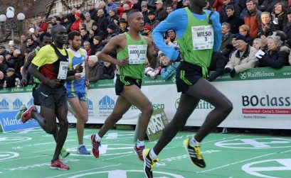 Photo: Wilson Kiprop (on the right) (Foto credit: BOclassic/Mosna)