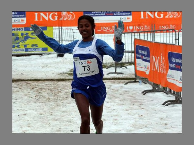 Eleni Gebrehiwot at the 2013 Euro Cross (Photo: Daily Journal archive / sportpics)