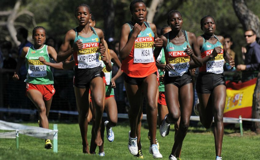 Faith Chepngetich Kipyegon (KEN) during the junior women's race at the 2013 IAAF World Cross Country Championships, Bydgoszcz, Poland (© Getty Images)