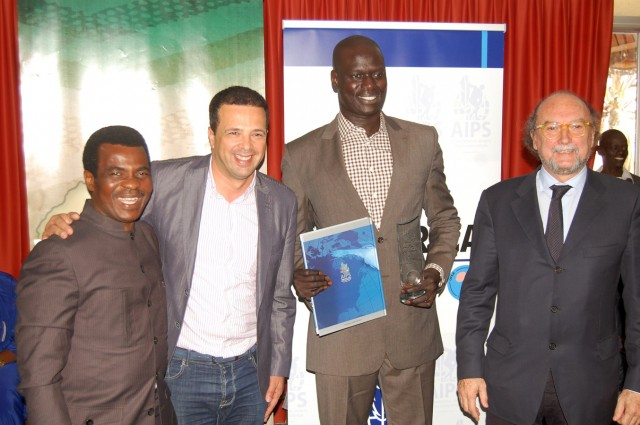 AIPS-Africa executives at the Congress in Dakar, Senegal - March 19-22, 2014 / Photo Credit: Evelyn Watta