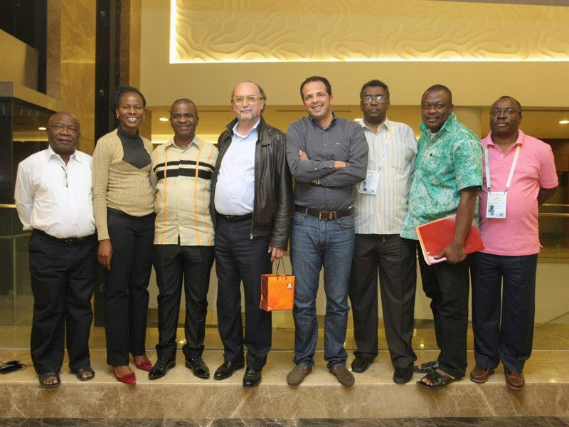 AIPS Africa leadership at 76º Congresso da AIPS, Sochi, Rússia, Hotel Radisson. Photo: António Ferreira Gonçalves
