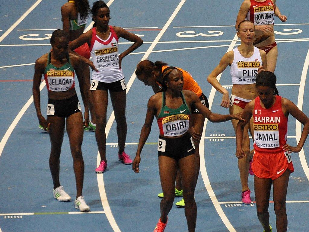Kenya's Hellen Onsando Obiri (8:57.72) finished second in Sopot / Photo Credit: Yomi Omogbeja