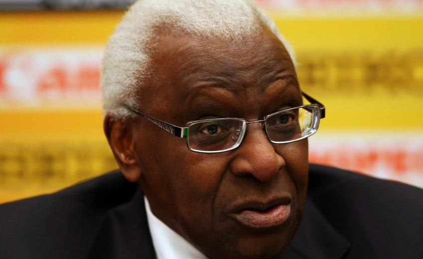 Lamine Diack, IAAF President during a press conference prior to the IAAF World Indoors, Sopot 2014 | Photo Credit: IAAF / Getty Images