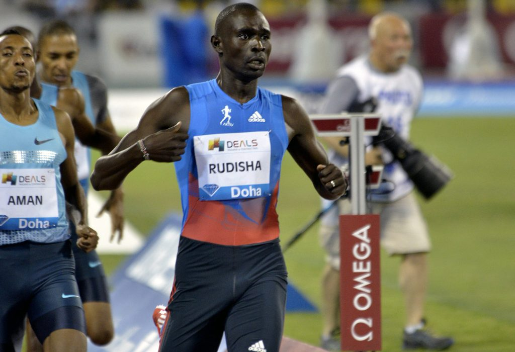 David Rudisha will return to IAAF Diamond League action at the Doha 2014 meeting.