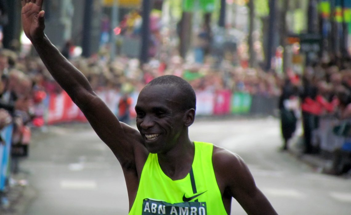 Kenyan Eliud Kipchoge won the 34th ABN AMRO Rotterdam Marathon on Sunday.
