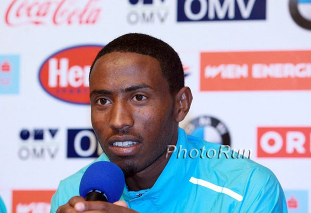 Getu Feleke (Ethiopia) at the Vienna City Marathon Press Conference - April 13, 2014 / Photo Credit: PhotoRun.net
