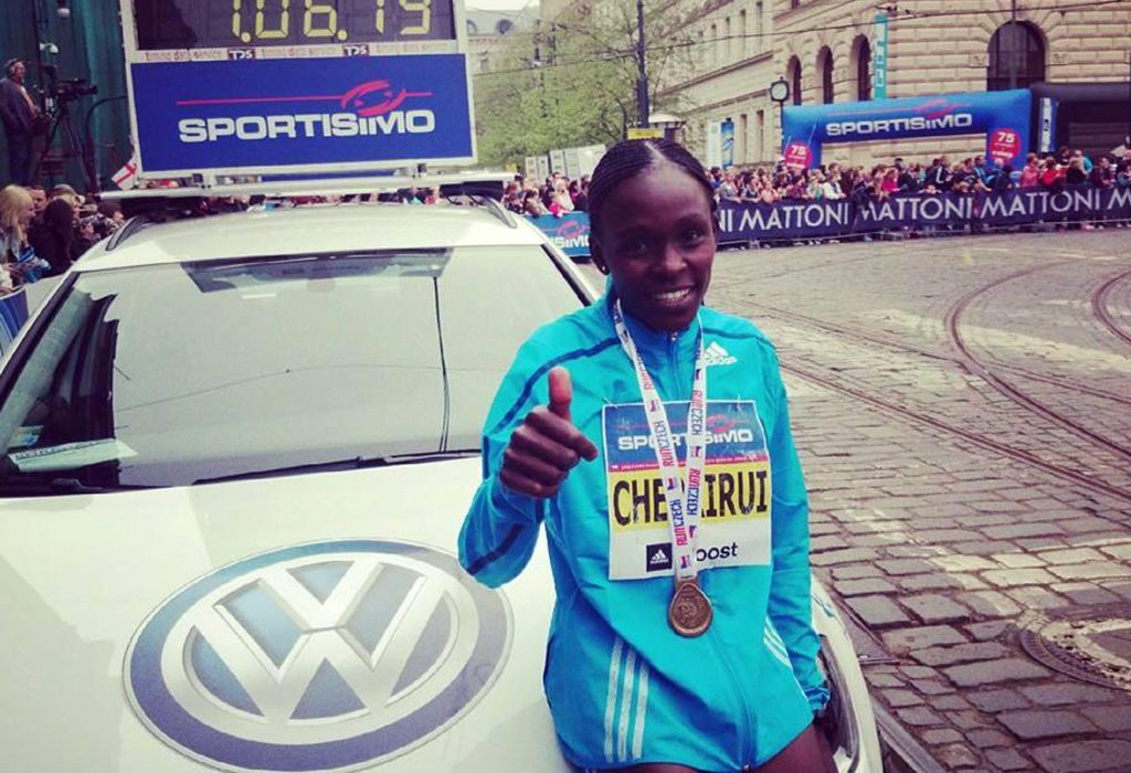 Joyce Chepkirui breaks course record in Prague with 66:19
