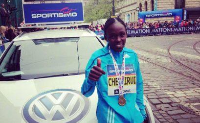 Joyce Chepkirui breaks course record in Prague with 66:19
