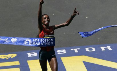 Rita Jeptoo breaks course record with third Boston victory/ Photo: AP