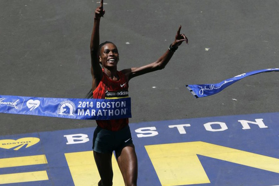 Rita Jeptoo breaks course record with third Boston victory/ Photo: AP