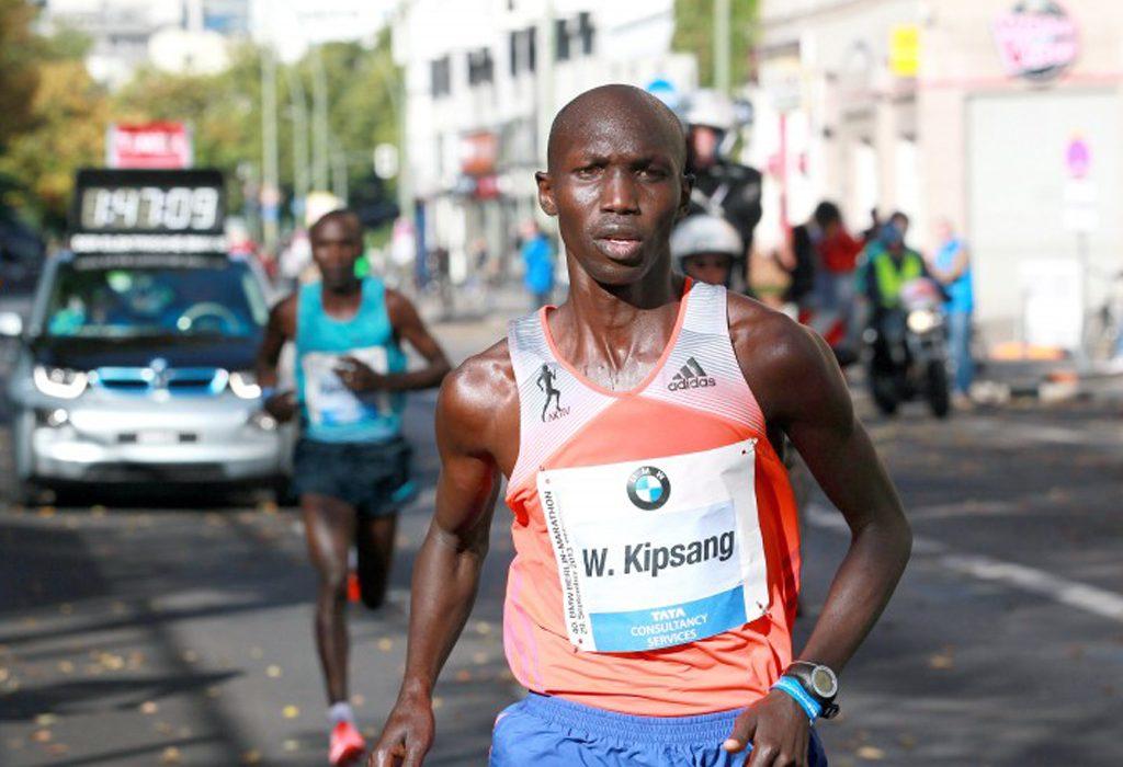 Wilson Kipsang from Kenya winning the Berlin Marathon in 2013