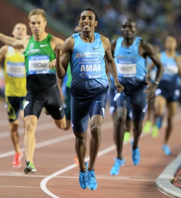 World 800m champion Mohammed Aman of Ethiopia