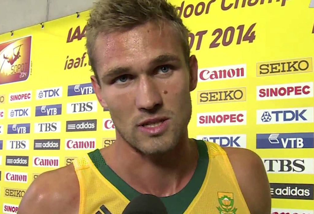 South Africa's Andre Olivier won the men's 800m in 1:44.88 at Beijing's IAAF World Challenge meeting on Wednesday.